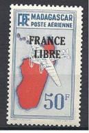 MADAGASCAR AERIEN FRANCE LIBRE N� 51 NEUF** LUXE