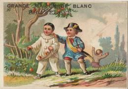 Chromo Gendarme Vol De Pomme Lefebvre Maison De Blanc Bruxelles - Chromos