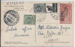 1925 Francobolli Pubblicitari C. 15 CAMPARI Cartolina Da Redipuglia Per Udine - 1900-44 Victor Emmanuel III