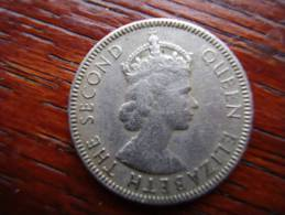 SEYCHELLES 1954 TWENTY FIVE  CENTS  Copper-nickel Coin USED In Good Condition. - Seychelles