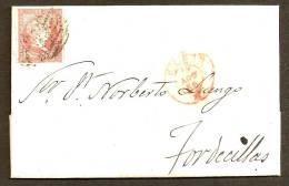 ESPAÑA 1856 - Carta Completa Circulada - 1850-68 Reino: Isabel II