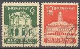 Ost-Sachsen 1946 Wiederaufbau Mi 64-65 / Sc 15NB1-2 / YT 23-24 Gestempelt / Oblitéré / Used [-] - Zone Soviétique