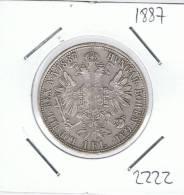 AUSTRIA  -  1 Florin 1887  KM2222 - Autriche