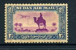 Sudan 1931-37 Airplane And Camel Postman - 2½p Magenta And Blue - P.11½ X 12½ HM (SG 53d) Heavy Gum Toning - Soudan (...-1951)
