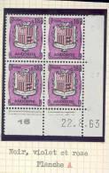 ANDORRE FRANCAIS - Y&T N° 155A -  Coin Daté  4 TP **  Du 22/08/1963 - Unused Stamps