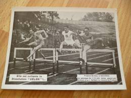 Document Photographique Vélox. Course De Haies à Colombes.France Suisse - Sports