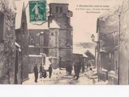 Porcheville - Rue Principale - Sous La Neige - 6 Mars 1909 [10201P78] - Frankreich