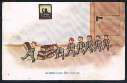 AK Militär / Humor, Brotempfang, Réception Pain, Bread Reception, Feldpost, Fieldpost Militaria - Humour