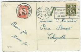 Tx 35 Chapelle-Lez-Herlaimont 29.VI.1933 + 10 Ct Ceres - Portomarken