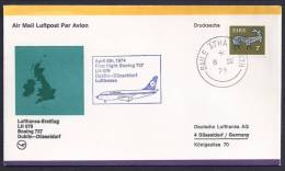 FIRST FLIGHT - Lufthansa LH079 Dublin-Düsseldorf - 06 April 1974 - FDC