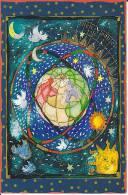 Dessin Représentant La Révolution De La Terre (aphélie, Périhélie), Le Soleil, Les étoiles Et Des Colombes. - Astronomie