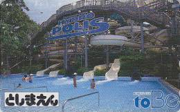 Télécarte Japon - PARC D´ATTRACTION TOBE / Hydropolis - AMUSEMENT PARK Japan Phonecard - VERGNÜGUNGSPARK  - ATT 128 - Jeux