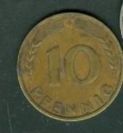 1949 Bank Deutscher Lander 10 Pfennig  F  - Pieb 4704 - 10 Pfennig