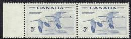 Canada 1954 Birds Aves Oiseaux Vegels  - Whooping Crane  - Grus Americana Strip Of 2 MNH - Kraanvogels En Kraanvogelachtigen