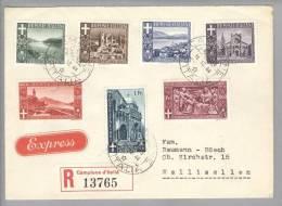 Campione 1944-12-11 R-Express-Satz-Brief Nach Wallisellen - Autres - Europe
