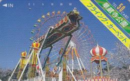 Télécarte Japon - PARC D´ATTRACTION - Flying Carpet ** ONE PUNCH ** - AMUSEMENT PARK Japan Phonecard -  ATT 152 - Jeux