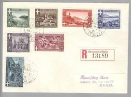 Campione 1944-11-29 R-Satzbrief Nach Basel - Autres - Europe