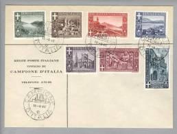 Campione 1946-09-18 Satzbrief Souvenier Auf Poststellencouvert - Autres - Europe