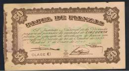 50  Pesetas 1940 Papel Fianzas - Spagna