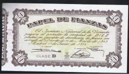 10  Pesetas  1954 SC  Papel Fianzas - Spagna
