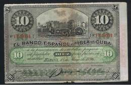 10 Pesos  Banco Español Isla De Cuba 1896 - Espagne