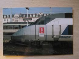 CPM TGV A N°345-Lyon Perrache 04 Janvier 1992 - Trains