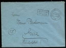 A1663) SBZ Brief Barfrankatur Von Eisenberg 2.8.1945 Schwarzer Ra2 - Zone Soviétique