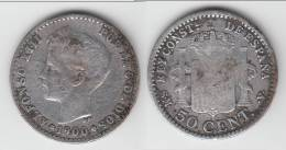 **** ESPAGNE - SPAIN - 50 CENTIMOS 1900 ALFONSO XIII - ARGENT - SILVER **** EN ACHAT IMMEDIAT - [ 1] …-1931 : Royaume