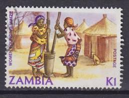Zambia 1983 Mi. 262     1 K Traditionelles Leben Frauen Beim Maisstampfen - Zambia (1965-...)