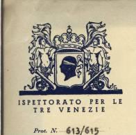 1942  VENEZIA  CA LITTORIA  TRE VENEZIE   GRUPPO   D'  AZIONE IRREDENTISTA  CORSA  CORSICA  CORSE  ORIGINALE LETTERA - Documenti Storici