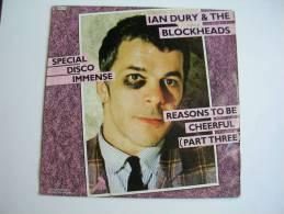 "MAXI - IAN DURY & THE BLOCKHEADS  - STIFF 740518  "" REASONS TO BE CHEERFUL "" + 2 - 45 T - Maxi-Single"