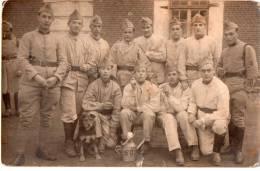 Photographie Originale De Soldats En Caserne -60ème?- (3.64) - Guerre, Militaire