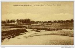 50 SAINT-GERMAIN-SUR-AY - CPSM - La Rivière L´AY Au Pont Du Vieux Moulin - Other Municipalities