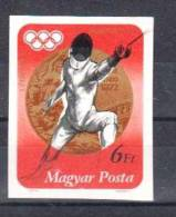 HUNGARY 1972 OLYMPIC GAMES FENCING IMPERFORATED - Esgrima