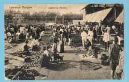 MOÇAMBIQUE - Lourenço Marques (Delagoa Bay) Postal Interior Do Mercado. Animado Old Postcard - Mozambique
