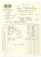 Factures,  Paul Rebeilleau - Bonneterie & Mercerie En Gros - Poitiers (86) - 1924 - 1900 – 1949