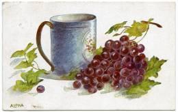 ALPHA : TANKARD AND GRAPES - 1900-1949