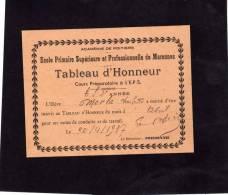 MARENNES  1937 TABLEAU D HONNEUR COURS PREPARATOIRE BON POINT - Documents Historiques