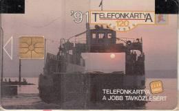 HUNGARY - Balaton Ferry, First Issue 120 Units, 07/91, Mint - Hungría