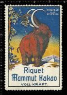 Old Original German Poster Stamp (advertising Cinderella, Vignette, Reklamemarke) Elephant, Elefant, - Elephants
