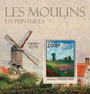 tg13111b Togo 2013 Painting s/s Mills Windmills