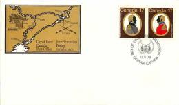 1979   Colonels: De Salaberry, John By  Sc 819-20  Se-tenant - Omslagen Van De Eerste Dagen (FDC)