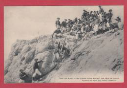 ARTILLEURS ALPINS --> Artilleurs Alpins Montant Une Pièce De Canon - Manovre