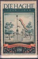 Den Haag Vignet 1948 Postfris MNH Vrijheidsboom Buitenhof - Erinnofilie
