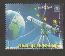 "BELGICA /BELGIUM /BELGI EUROPA 2009  - TEMA  ""ASTRONOMIA"" - SELLO  Procedente Del Hojita Bloque DENTADA  (PERFORATED) - 2009"