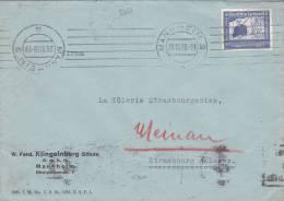 9351# ALLEMAGNE ZEPPELIN DEUTSCH LUFTPOST LETTRE Obl MANNHEIM 2 1938 Pour STRASBOURG BAS RHIN ALSACE DEUTSCHLAND - Germany