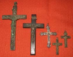 1 Lot De 5 Croix - Religion & Esotérisme