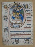 Geburt Jesus Codex Giste /14 Century/ Osnabruck - Tableaux, Vitraux Et Statues