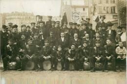 """Paris 3 ème - """"L´Avant Garde De Sainte Avoye""""-Fanfare Fondée En 1909 - Carte Photo En PARFAIT ETAT (voir 2 Scans) - Arrondissement: 03"""