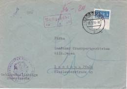 9358# ALLEMAGNE LETTRE TAXE NACHGEBÜHR NOTOPFER BERLIN STEUERMARKE Obl BONN 1953 Pour LANDAU PFALZ - DDR
